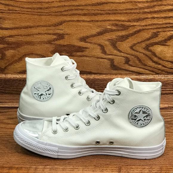 34ab999ca728a5 Converse CTAS Brush Off Leather Toe Cap White Pure